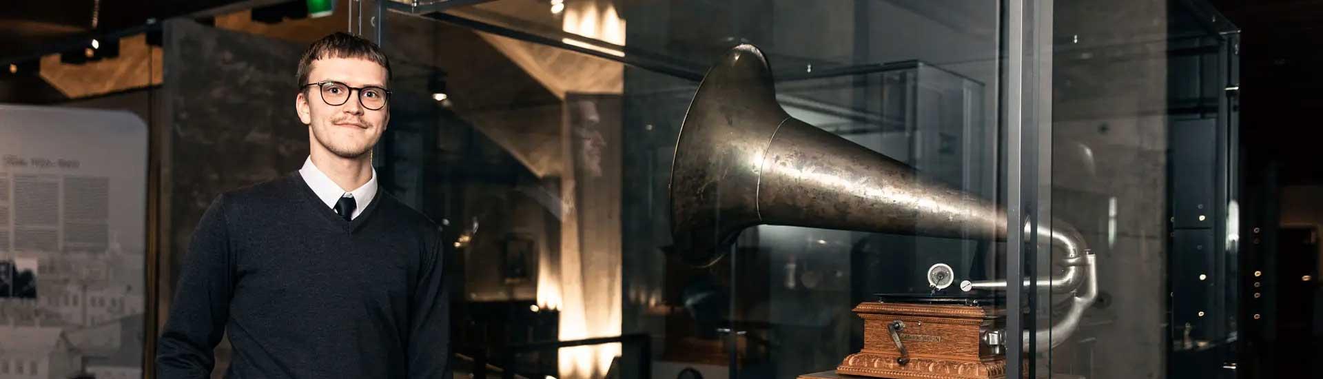 Em grammofon i Sibeliusmuseum